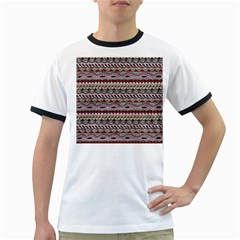 Aztec Pattern Art Ringer T Shirts
