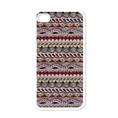 Aztec Pattern Art Apple Iphone 4 Case (white) by BangZart