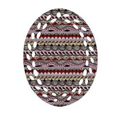 Aztec Pattern Art Ornament (oval Filigree) by BangZart