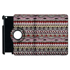 Aztec Pattern Art Apple Ipad 3/4 Flip 360 Case