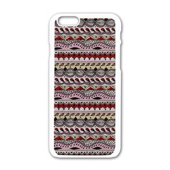 Aztec Pattern Art Apple Iphone 6/6s White Enamel Case by BangZart