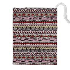 Aztec Pattern Art Drawstring Pouches (xxl) by BangZart