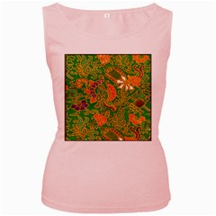 Art Batik The Traditional Fabric Women s Pink Tank Top