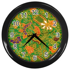 Art Batik The Traditional Fabric Wall Clocks (black) by BangZart