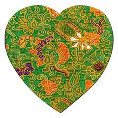 Art Batik The Traditional Fabric Jigsaw Puzzle (heart)