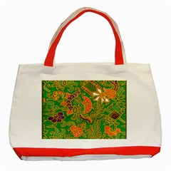 Art Batik The Traditional Fabric Classic Tote Bag (red) by BangZart