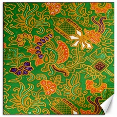 Art Batik The Traditional Fabric Canvas 16  X 16   by BangZart