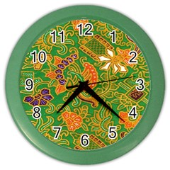 Art Batik The Traditional Fabric Color Wall Clocks by BangZart