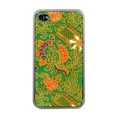 Art Batik The Traditional Fabric Apple Iphone 4 Case (clear)