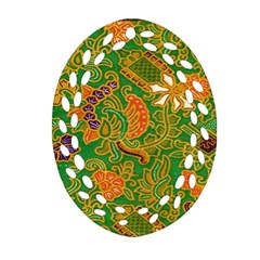 Art Batik The Traditional Fabric Oval Filigree Ornament (two Sides) by BangZart
