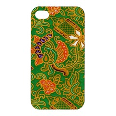 Art Batik The Traditional Fabric Apple Iphone 4/4s Premium Hardshell Case by BangZart