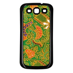 Art Batik The Traditional Fabric Samsung Galaxy S3 Back Case (black)