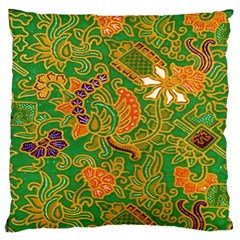 Art Batik The Traditional Fabric Large Flano Cushion Case (two Sides) by BangZart