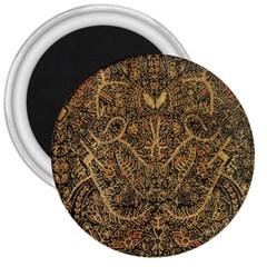 Art Indonesian Batik 3  Magnets by BangZart
