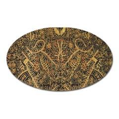 Art Indonesian Batik Oval Magnet by BangZart