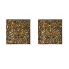 Art Indonesian Batik Cufflinks (square) by BangZart
