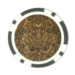 Art Indonesian Batik Poker Chip Card Guard (10 Pack)