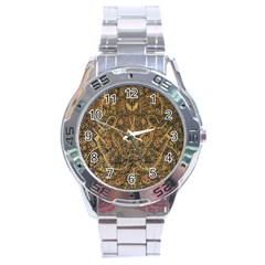 Art Indonesian Batik Stainless Steel Analogue Watch
