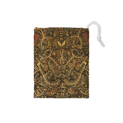 Art Indonesian Batik Drawstring Pouches (small)  by BangZart