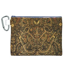Art Indonesian Batik Canvas Cosmetic Bag (xl) by BangZart