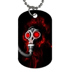 Gas Mask Dog Tag (one Side) by Valentinaart