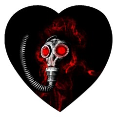 Gas Mask Jigsaw Puzzle (heart) by Valentinaart