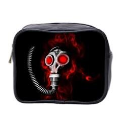 Gas Mask Mini Toiletries Bag 2 Side by Valentinaart