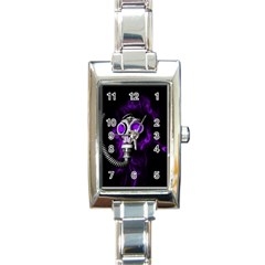 Gas Mask Rectangle Italian Charm Watch by Valentinaart