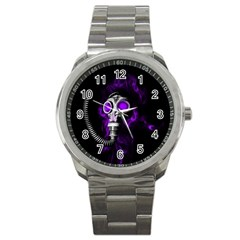 Gas Mask Sport Metal Watch by Valentinaart