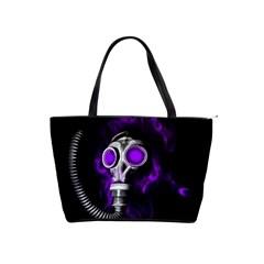 Gas Mask Shoulder Handbags by Valentinaart
