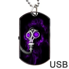 Gas Mask Dog Tag Usb Flash (one Side) by Valentinaart