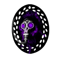 Gas Mask Ornament (oval Filigree) by Valentinaart