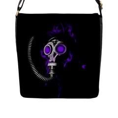 Gas Mask Flap Messenger Bag (l)  by Valentinaart