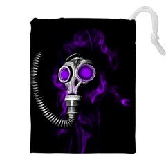 Gas Mask Drawstring Pouches (xxl) by Valentinaart