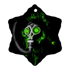 Gas Mask Snowflake Ornament (two Sides) by Valentinaart