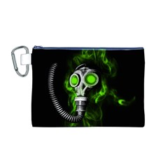 Gas Mask Canvas Cosmetic Bag (m) by Valentinaart
