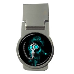 Gas Mask Money Clips (round)  by Valentinaart
