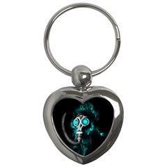 Gas Mask Key Chains (heart)  by Valentinaart