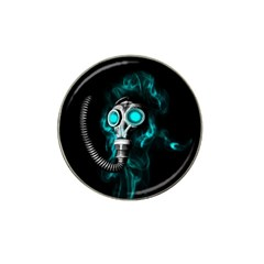 Gas Mask Hat Clip Ball Marker by Valentinaart