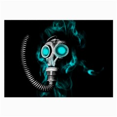 Gas Mask Large Glasses Cloth by Valentinaart