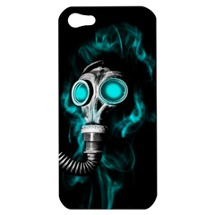 Gas Mask Apple Iphone 5 Hardshell Case by Valentinaart