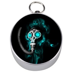 Gas Mask Silver Compasses by Valentinaart