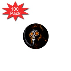 Gas Mask 1  Mini Buttons (100 Pack)  by Valentinaart