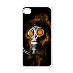 Gas Mask Apple Iphone 4 Case (white) by Valentinaart