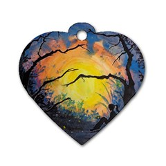 Soul Offering Dog Tag Heart (one Side) by Dimkad