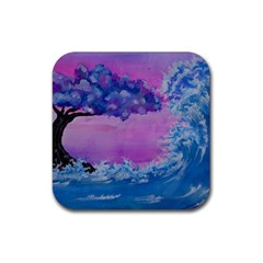 Rising To Touch You Rubber Coaster (square)  by Dimkad