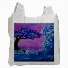 Rising To Touch You Recycle Bag (one Side) by Dimkad