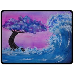 Rising To Touch You Double Sided Fleece Blanket (large)  by Dimkad