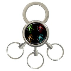 Gas Mask 3 Ring Key Chains by Valentinaart