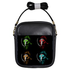 Gas Mask Girls Sling Bags by Valentinaart